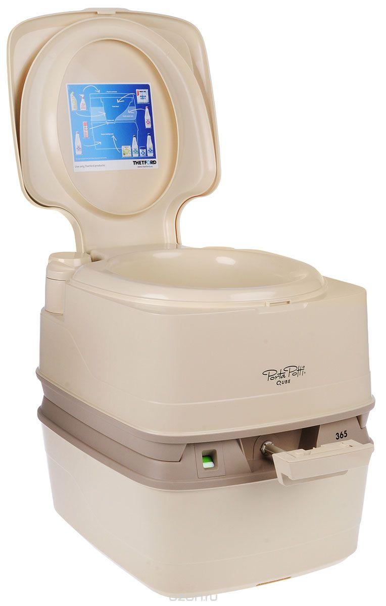 Пластиковый мобильный туалет с переработкой отходов химическими реагентами PortaPotti 365