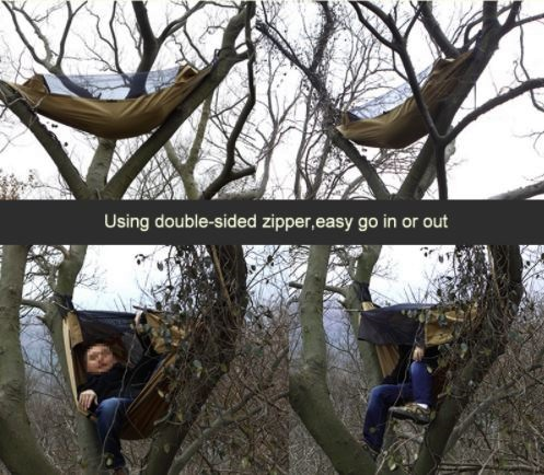 Гамак походный с москитной сеткой FREE SOLDIER на дереве