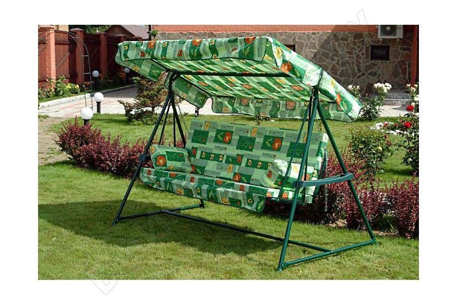 Зелёные качели «Касабланка» в саду