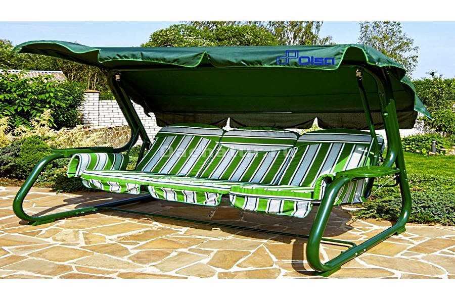 Зелёные садовые качели «Мастак»