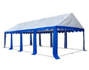 Садовый тент-шатер МИТЕК Гросс 8 Х 4 М, с открытыми стенками. Российского производства