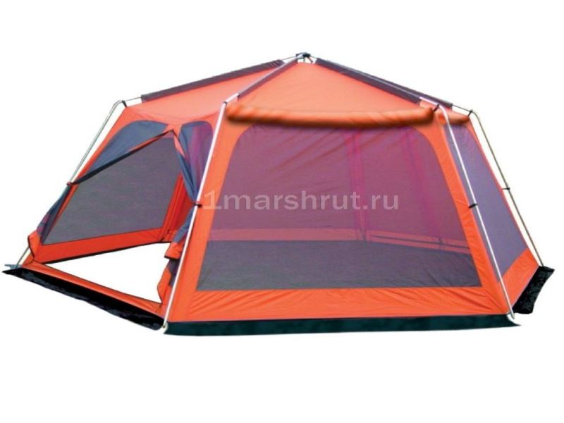 Шатер оранжевый шестиугольный с москитной сеткой Mosquito orange