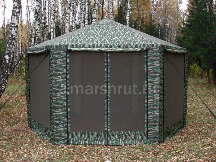 Тент шатер металлический с москитной сеткой ПИКНИК 2 Х 2 Х 2 М в лесу
