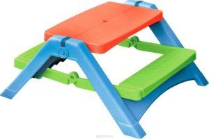 Складной разноцветный детский стол для пикника PalPlay