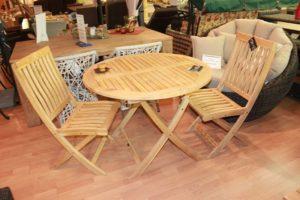 """Деревянный складной стул """"Кингстон"""" Hartmann и деревянный стол"""