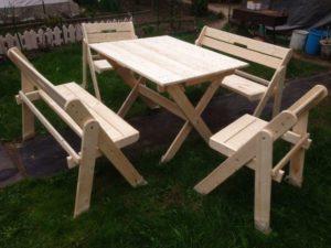 Деревянный складной стол из Шлифованных еловых досок Столярная мастерская Wooden-world, Россия