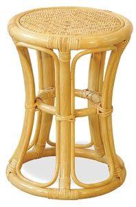 Табурет из натурального ротанга в форме африканского барабана