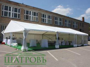 Тентовый шатер павильон ШАТРОВЪ 5 Х 10 М, Россия