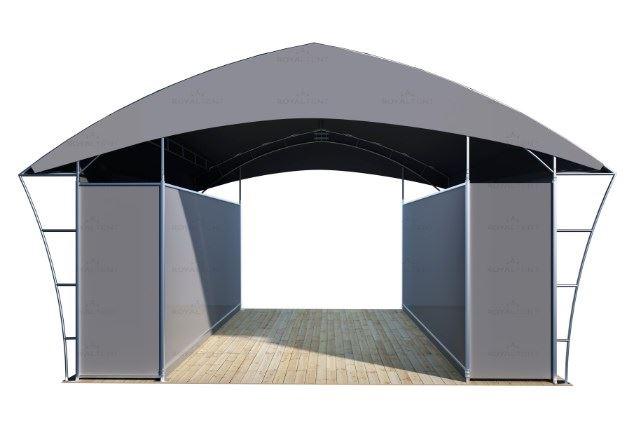 Серый торговый павильон Royal Tent TRADE RT49/1 CLOSE вид спереди