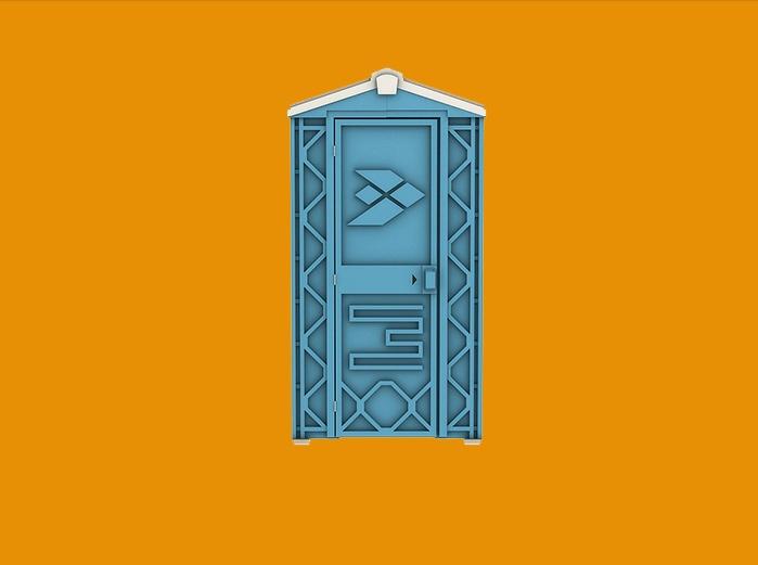 Мобильная туалетная кабинка синего цвета ECOSTYLE ООО ЭкоГрупп, Россия