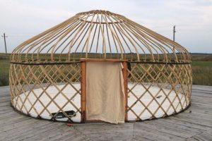 Дубовый каркас Башкирской юрты диаметром 6 м