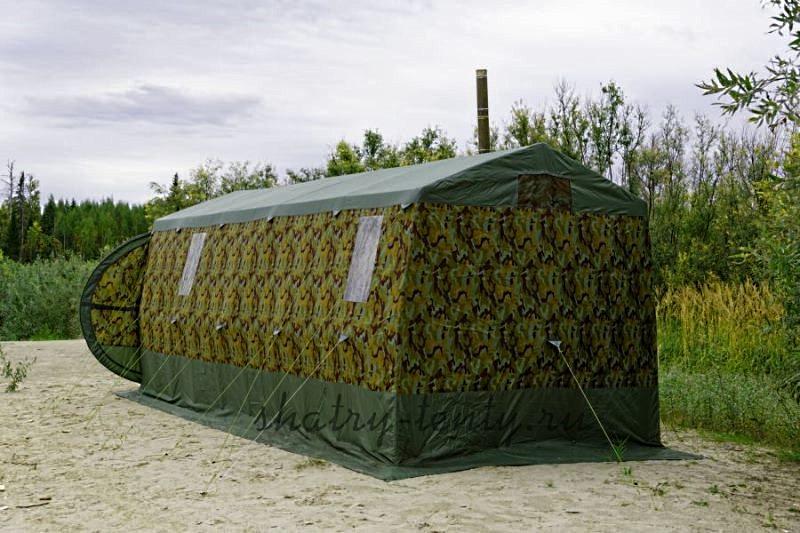 Большая мобильная палатка баня для любой погоды