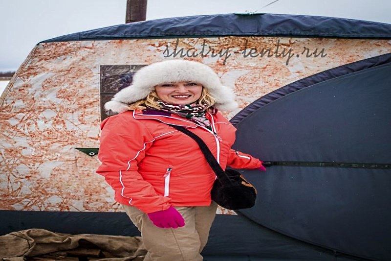 Зимняя мобильная баня палатка