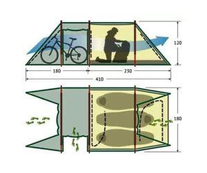 Палатка «Alexika Tunnel 3» схема с размерами