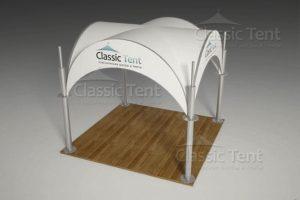 Полусферический «Арочный шатер» из оцинкованной стали
