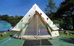 Белая «Белл палатка» (зимняя) (100% Cotton 3000 мм)