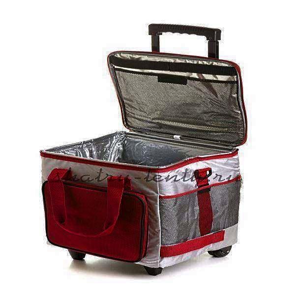 Изотермическая сумка с стенками из фольгированного ПВХ на роликах