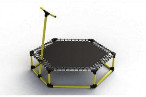 Шестиугольный фитнес-батут «Leco-IT Fit» 135 см из стали