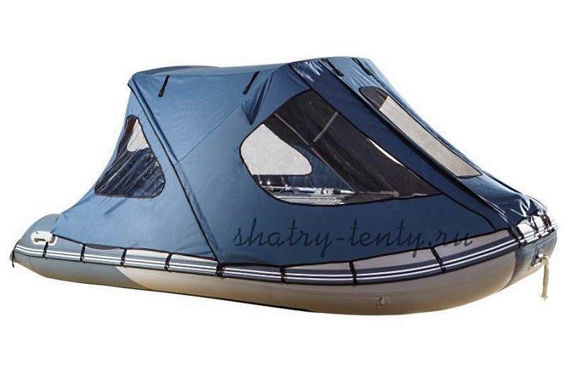 Легкая надувная лодка в комплекте с ходовым тентом