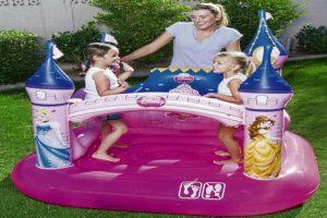 Розовый маленький батут «Bestway Принцесса 91050» для маленьких детей