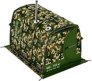 Мобильная баня палатка вагонного типа «МОБИБА МБ-103 М» с каркасом из авиационного сплава