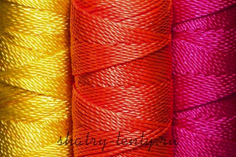 Нейлоновые нити для пошива тентов