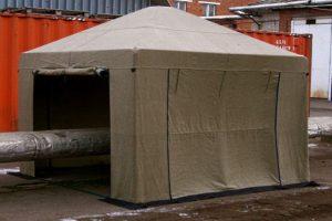 Светло-коричневая палатка сварщика Митек 2,5х2,0