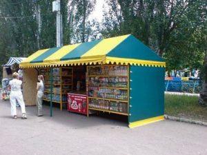 Желто-зеленый павильон торговый Мод. 627 (Cardura 300D)