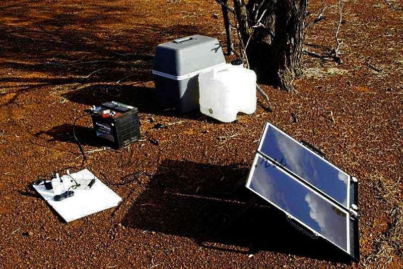 Питание изотермической емкости с помощью солнечных батарей и аккумулятора