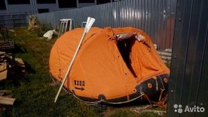 Плот-палатка «ПСН-10» с оранжевым тентом