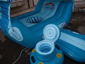 Плот-шезлонг с надувным тентом «Cabana», производитель: Multisport, США