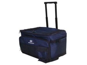 Темно-синяя сумка-холодильник «Nordway N6702» с внешним корпусом из полиэстера, на колесиках