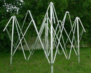 Прямоугольный замкнутый стальной профиль в каркасе для шатра гармошки