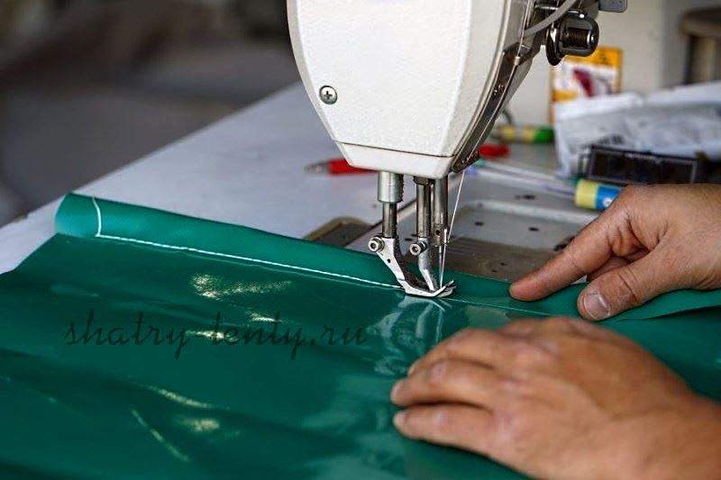 Прошивка тента в заводских условиях