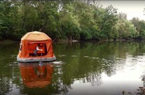 Оранжевая плот-палатка для комфортного путешествия «Shoal Tent»