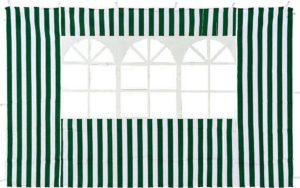 Зеленая стенка с окном для садового тента