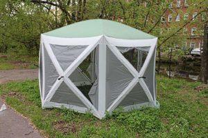 Серо-зеленый тент шатер CAMPACK TENT A-2006W 6 D из стеклопластика и стали