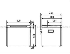 «DometicCombiCool ACX 35» схема с размерами