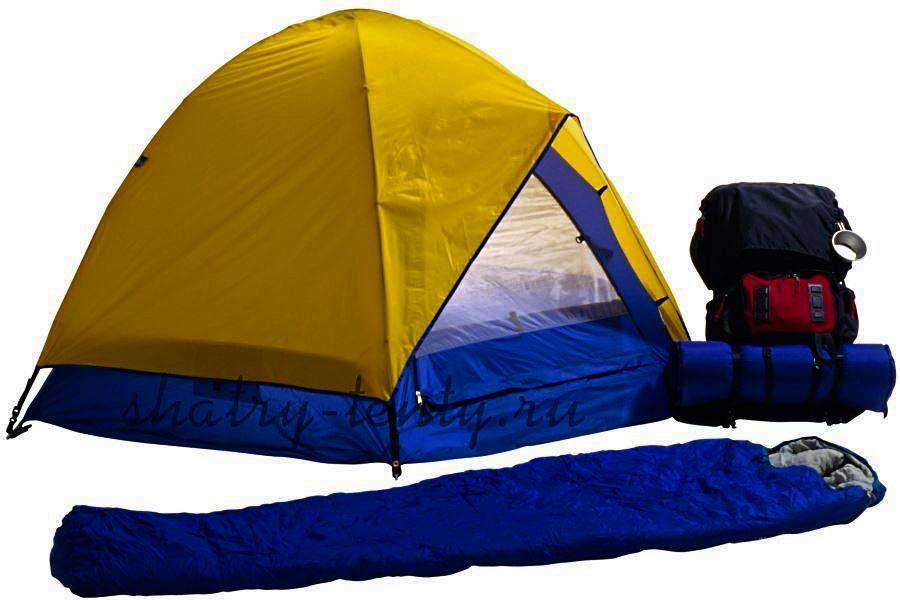 Туристическая палатка с влагостойким дном из особо прочного полотна 500-600Т