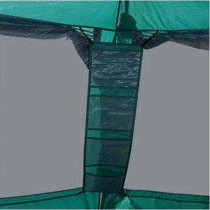 Зеленый туристический тент шатер GREENELL ГРЕЙНДЖ с подвесными полками