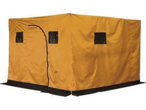 Желтая двуслойная мобильная баня «Nova Tour N»