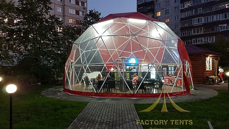 Кафе в сферическом шатре диаметром 6 метров