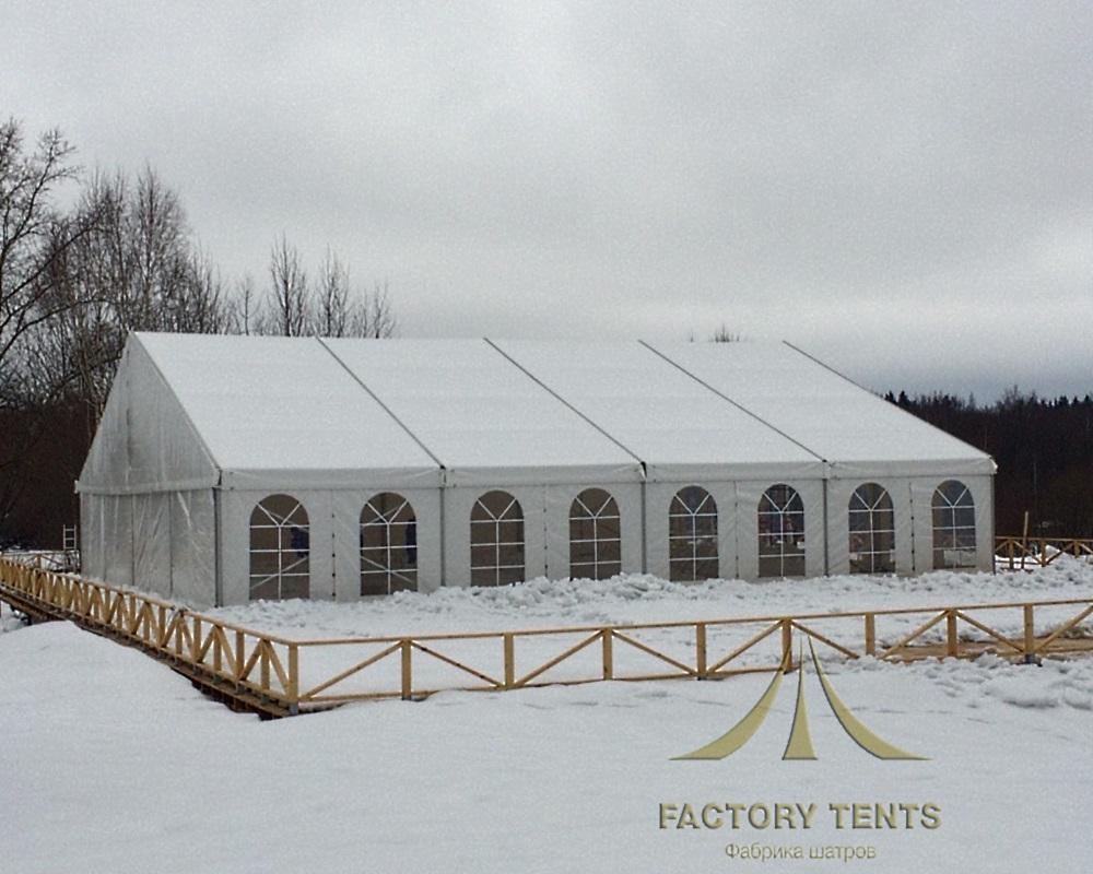 Классический шатер 20х20 для кейтеринга в зимнем исполнении