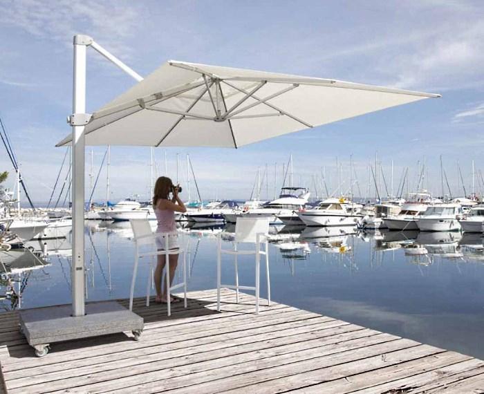 Алюминиевый квадратный зонт 4х4 «Kingston»