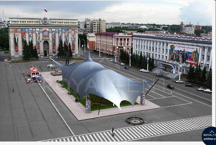 "Мабранный шатер ""Арочный-1"" 75х30м РоялТент"
