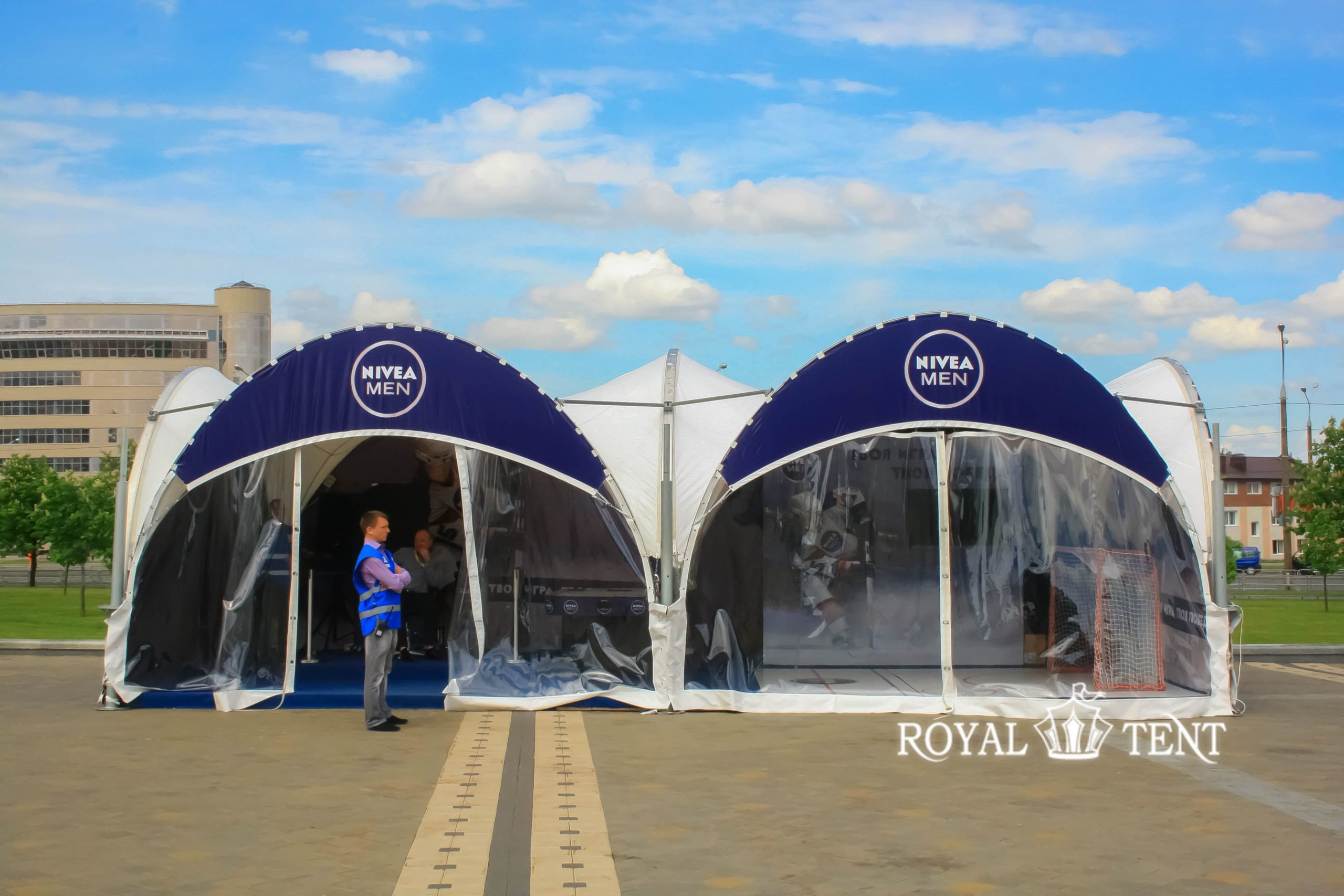 Арочные шатры 5х5 со стенками из прозрачной пленки ПВХ