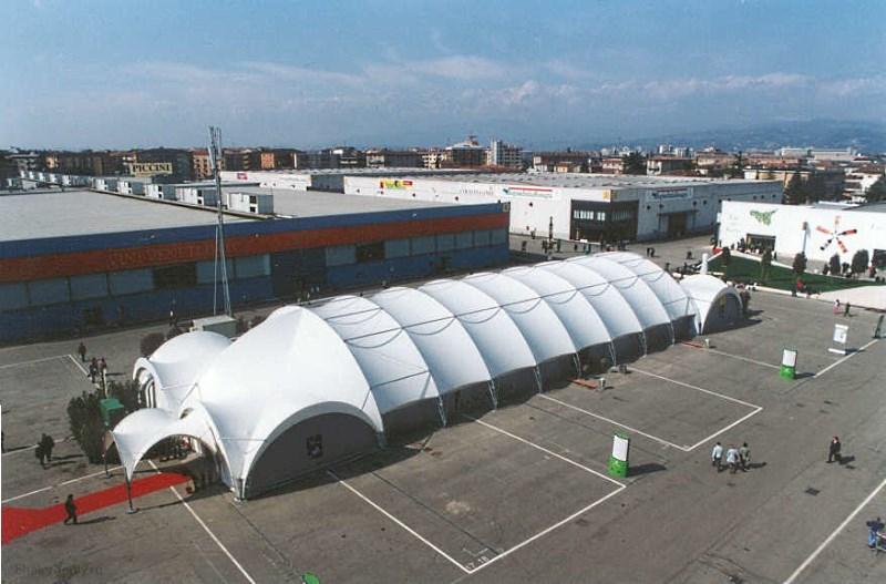 Арочный шатер для ярмарки 60х20м, производитель Фабрика шатров