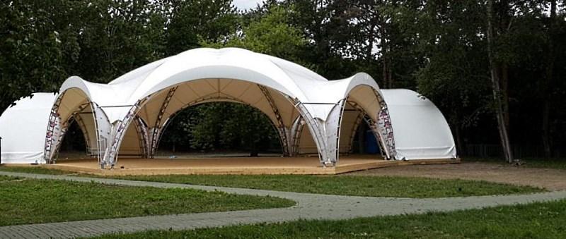 Арочный шатер на 100 человек