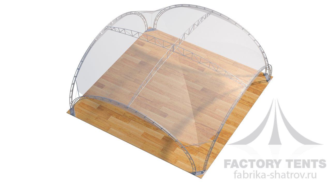 Арочный шатер Дюна 10х10 м, компания Фабрика Шатров. Россия