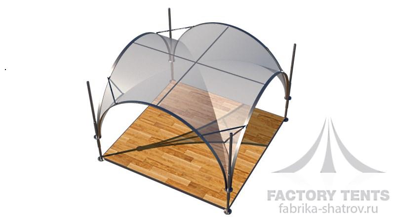 Арочный шатер Фабрика шатров 3,5*3,5 схема